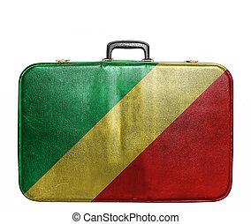 Bolsa de viaje con bandera de Congo Republic