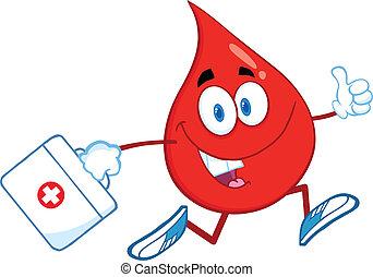 bolsa medicina, gota, sangre