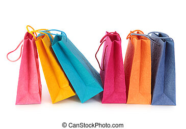 Bolsas de compras coloridas