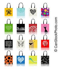 Bolsas de compras listas para tu diseño