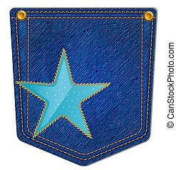 Bolsillo azul Jean