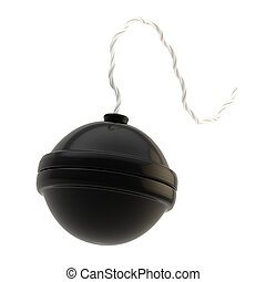 Bomba esférica aislada en blanco