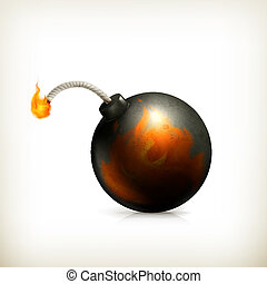 Bomba, icono del vector