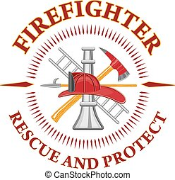 bombero, rescate, proteger