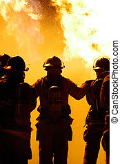bombero, trabajo en equipo