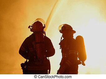 bomberos, dos