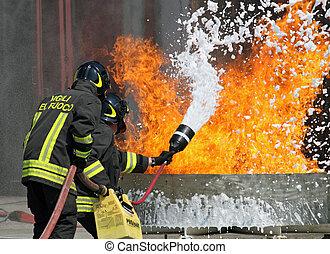 bomberos, parque de bomberos