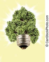 Bombilla eco-árbol