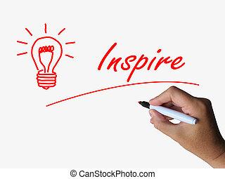 bombilla, motivación, inspirar, influencia, referente, inspiración