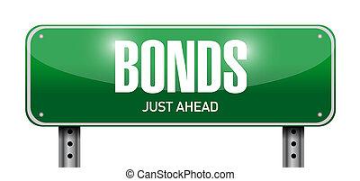 Bonds road sign de ilustración