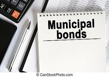 bonds., tabla, cuaderno, mentiras, calculadora, inscription-, smartphone, municipal