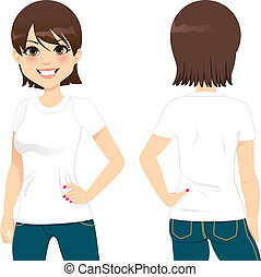 Bonita camiseta de mujer