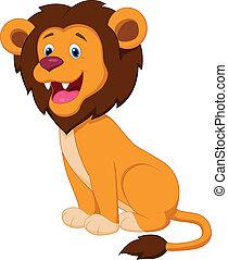 Bonita caricatura de león