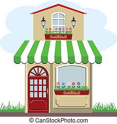 Bonita casita y tienda