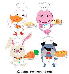 Bonita colección de cocina de animales
