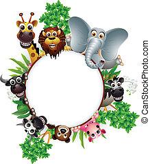 Bonita colección de dibujos animados de animales