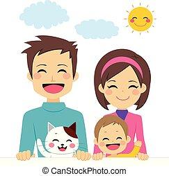 Bonita familia feliz