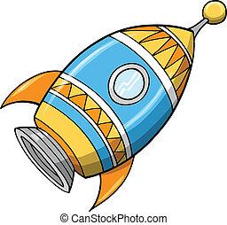 Bonita ilustración del vector de cohetes