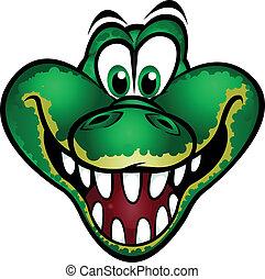 Bonita mascota de cocodrilo