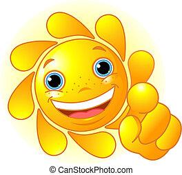 Bonita señal de sol