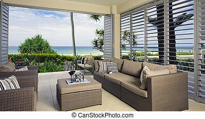 Bonita suite frente al mar con vistas al océano