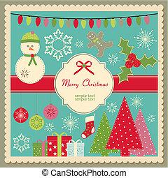 Bonita tarjeta de Navidad