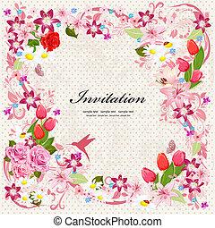 Bonita tarjeta de presentación floral