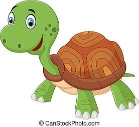 Bonita tortuga de dibujos animados, una vectomía aislada
