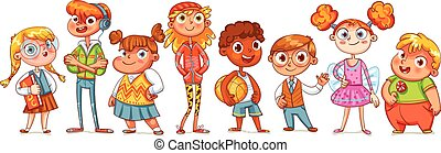 Bonita variedad de niños
