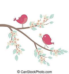 Bonitas aves enamoradas