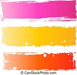 Bonitas banderas grungy multicolores