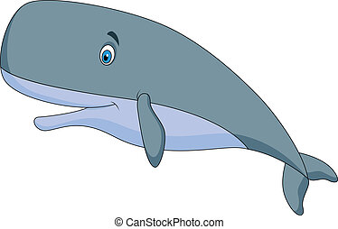 Bonitas caricaturas de ballenas de esperma