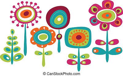 Bonitas flores coloridas