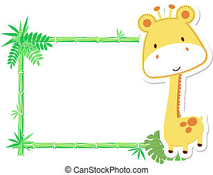 Bonito marco de jirafa bebé