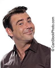 Bonito retrato de hombre sonriendo