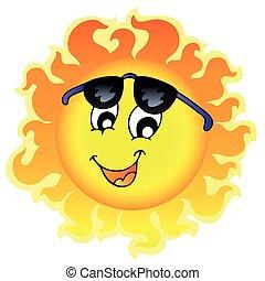 Bonito sol con gafas de sol