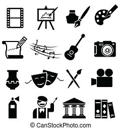 Bonitos iconos de arte