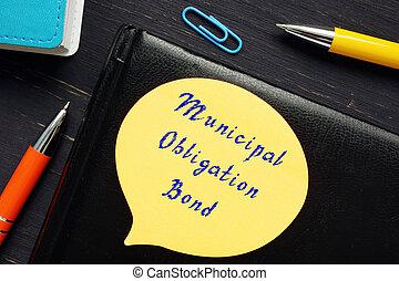 bono, obligación, frase, municipal, sheet.