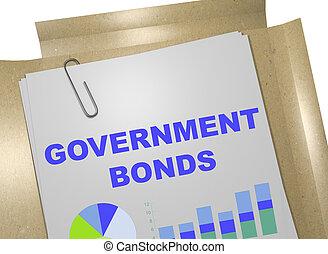 Bonos del gobierno, concepto de negocios