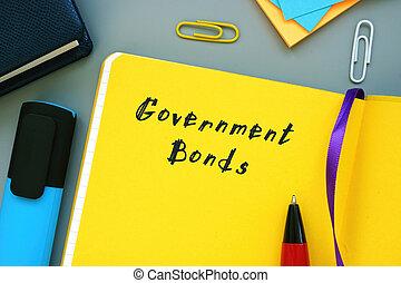 bonos, gobierno, empresa / negocio, sheet., significado, concepto, frase