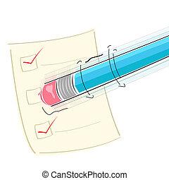 Borrador en lápiz