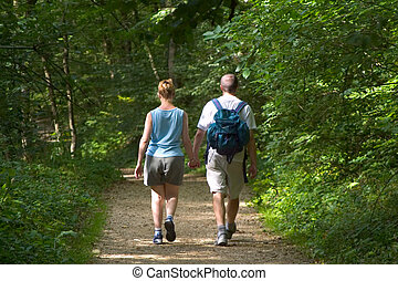 bosque, caminata