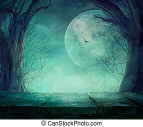 Bosque espeluznante de Halloween