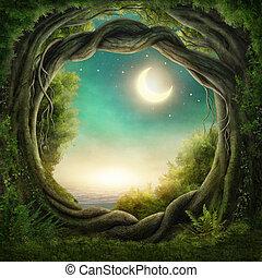 Bosque oscuro encantado