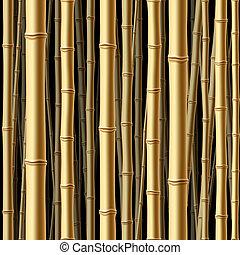 bosque, seamless, bambú