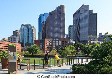 boston, contorno, distrito financiero