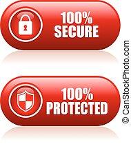Botón 100 seguro