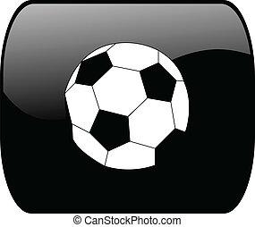 Botón con pelota de fútbol