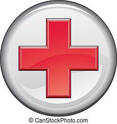 Botón cruzado médico de primeros auxilios