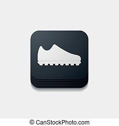 Botón cuadrado: zapatillas